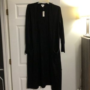 Old Navy Black Long Duster Sweater - large